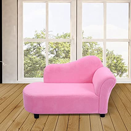 Sensational Costway Kids Sofa Children Coral Fleece Chair Day Bed Bedroom Home Couch Seat Pink Gmtry Best Dining Table And Chair Ideas Images Gmtryco