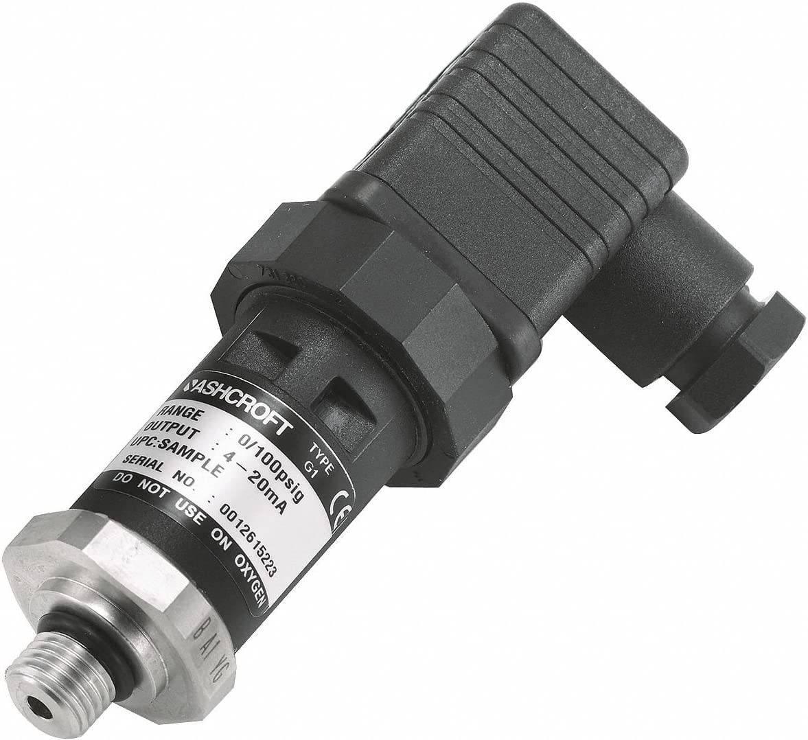 ASHCROFT 7//16-20 SAE Male Pressure Transmitter 0 to 300 psi 1 to 5VDC Output