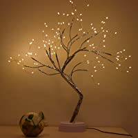 Bonsai Light Tree Table Top LED Shimmery Tree Light Battery & USB Powered Touch Switch Pre Lit Twig Branch Lights for…