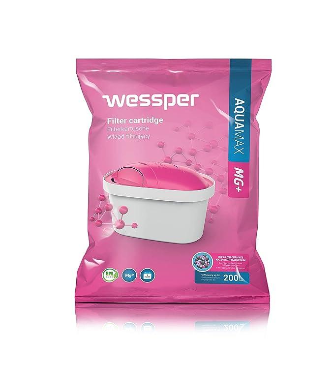 Wessper® AQUAMAX MG+ Cartuchos de filtrado de Agua con Magnesio, Compatible con BRITA Maxtra, PearlCo, Dafi Unimax, AmazonBasics(8 Unidades): Amazon.es: ...
