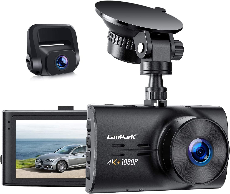 Campark 3840 2160 Dual Echte 4k Dashcam Vorne Und Elektronik