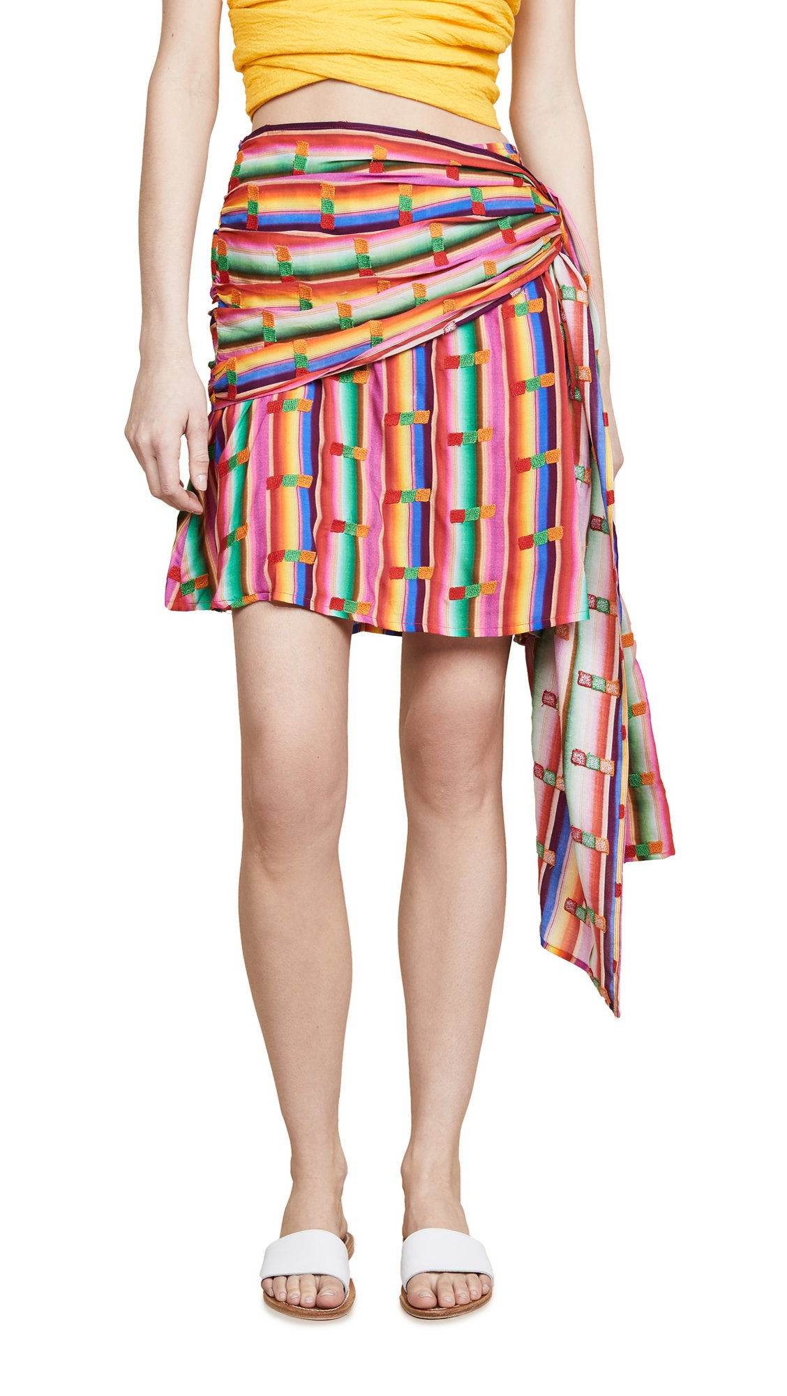 All Things Mochi Women's Roselie Skirt, Rainbow, Small