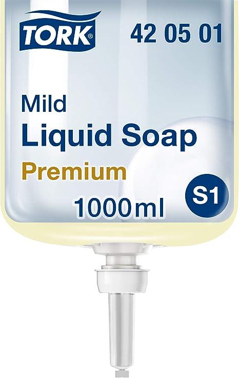 Tork 420501 Savon Liquide Premium Pour Mains S1 Doux 1l Jaune