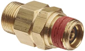 "Control Devices Brass Load Genie Unloading Check Valve, 1/2"" Tube Comp. x 3/8"" NPT Male"