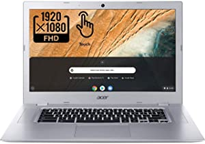 Acer Chromebook 315-2HT Touchscreen Laptop in Silver AMD A4 up to 2.5GHz 4GB RAM 32GB eMMC 15.6in Full HD Touch LCD Web Cam Chrome OS Gigabit WiFi (Renewed)