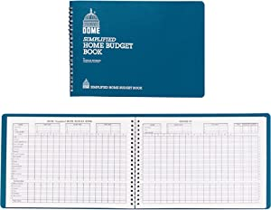 Dome Simplified Home Budget Book, 7 1/2in. x 10 1/2in., Teal
