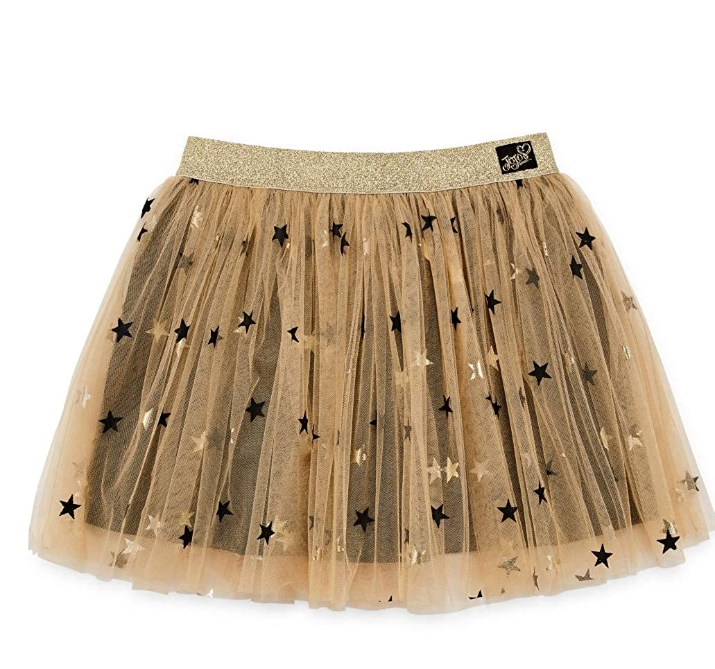 Girls JoJo Siwa Gold Star Tulle Tutu Skirt