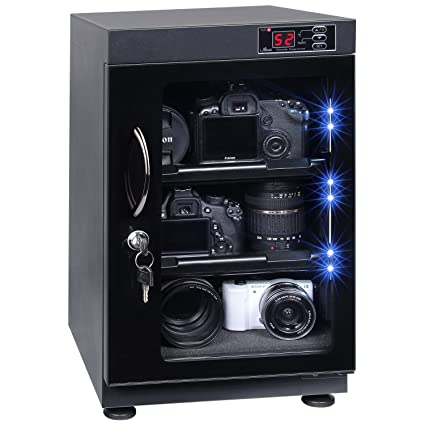 Tap 38l Automatic Numerical Led Control Dry Cabinet Box Storage For Dslr Camera Lens