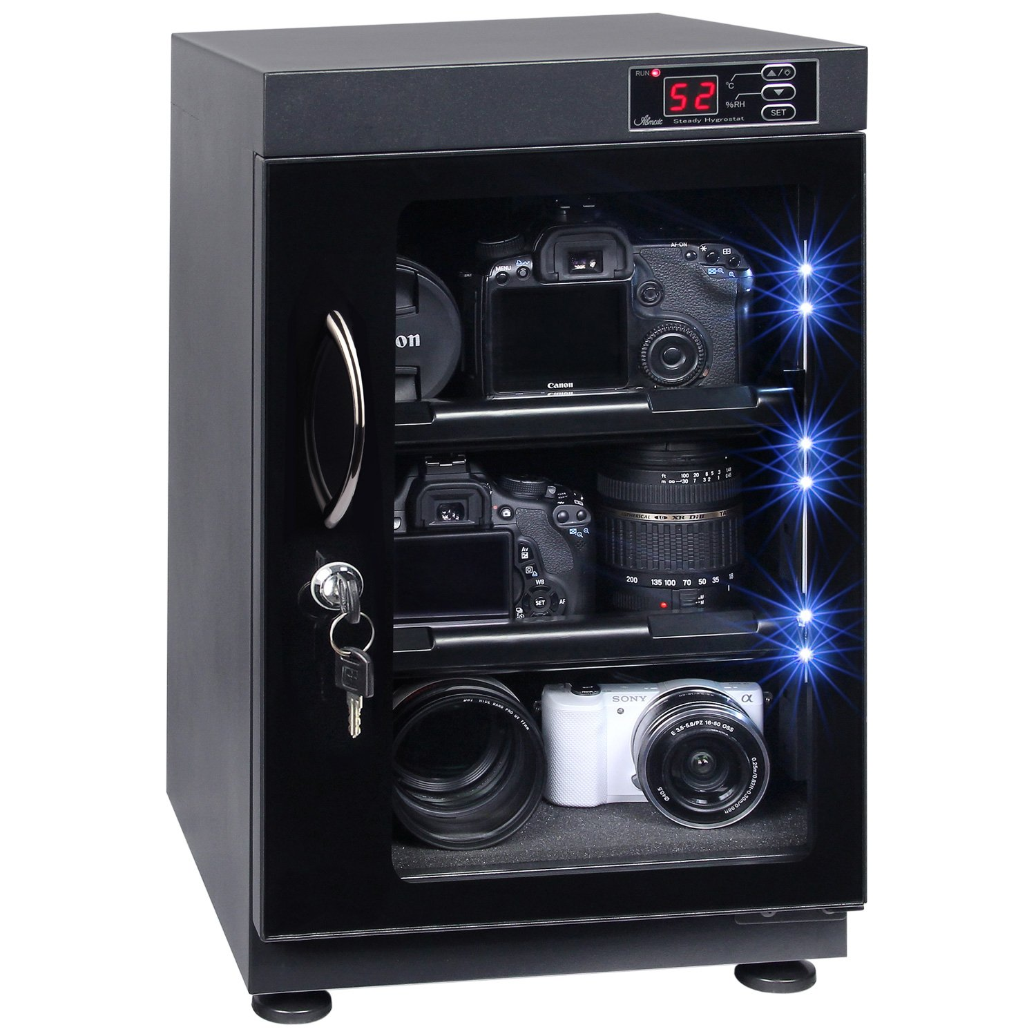 T.A.P 38L Automatic Numerical LED Control Dry Cabinet Box Storage for DSLR Camera Lens by T.A.P