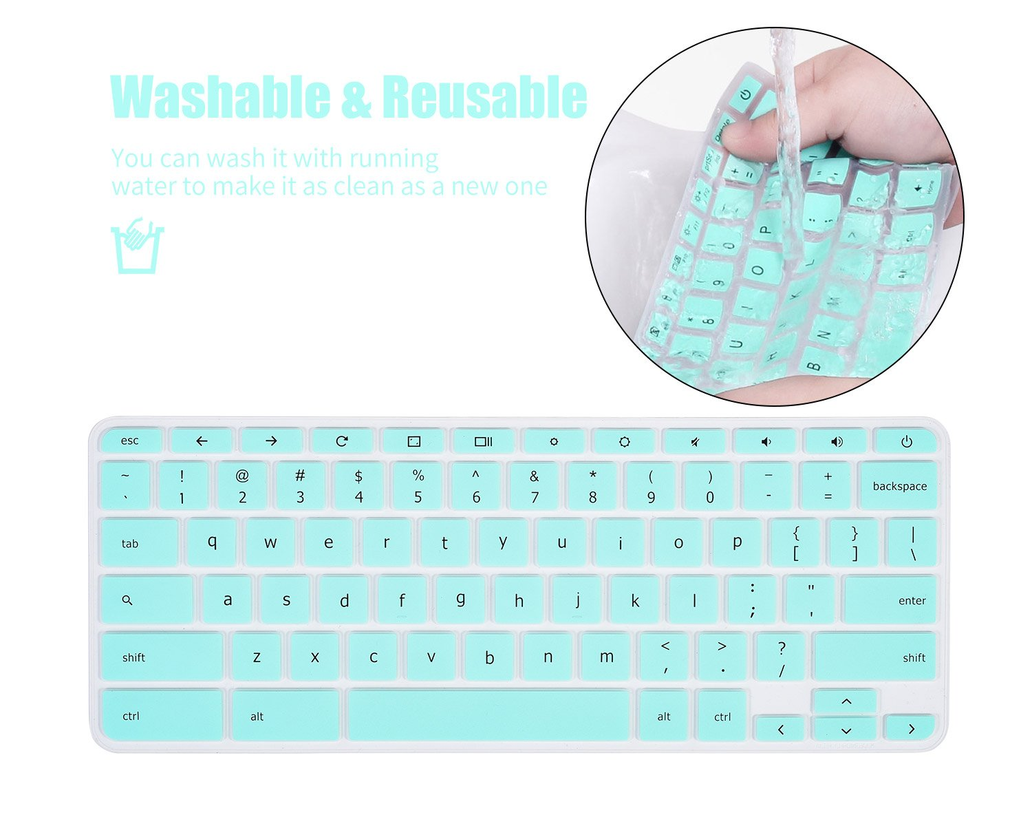 Keyboard Cover Skin Compatible Acer Chromebook R 11 CB5-132T CB3-131 Acer Chromebook R 13 CB5-312T,Acer Premium R11 Acer Chromebook 14 CB3-431 CP5-471,Acer Chromebook 15 CB3-531 CB5-571 C910,Rainbow