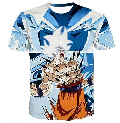 258deb4fe0b Dragon Ball Super Jiren Super Saiyan God Goku 3D Printed T-Shirt Tops (2XL