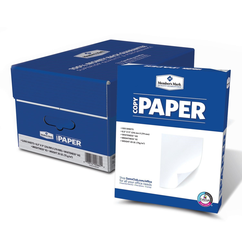 amazon com member s mark copy paper 92 bright 8 1 2 x 11