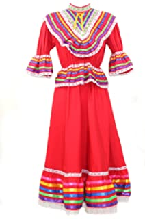 Ethnic Identity Girls Mexican Dress Vestido Jalisco
