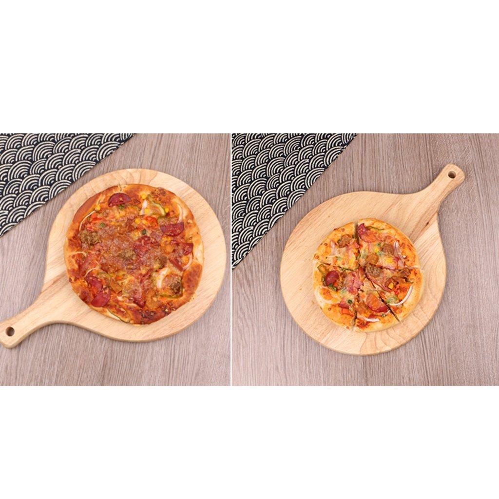 Sartenes y ollas Bandeja de Pizza de Pizza Tablero de Pizza Panificadora Bandeja de Pan Bandeja doméstica Durable Bandejas para Horno (Color : Wood, ...