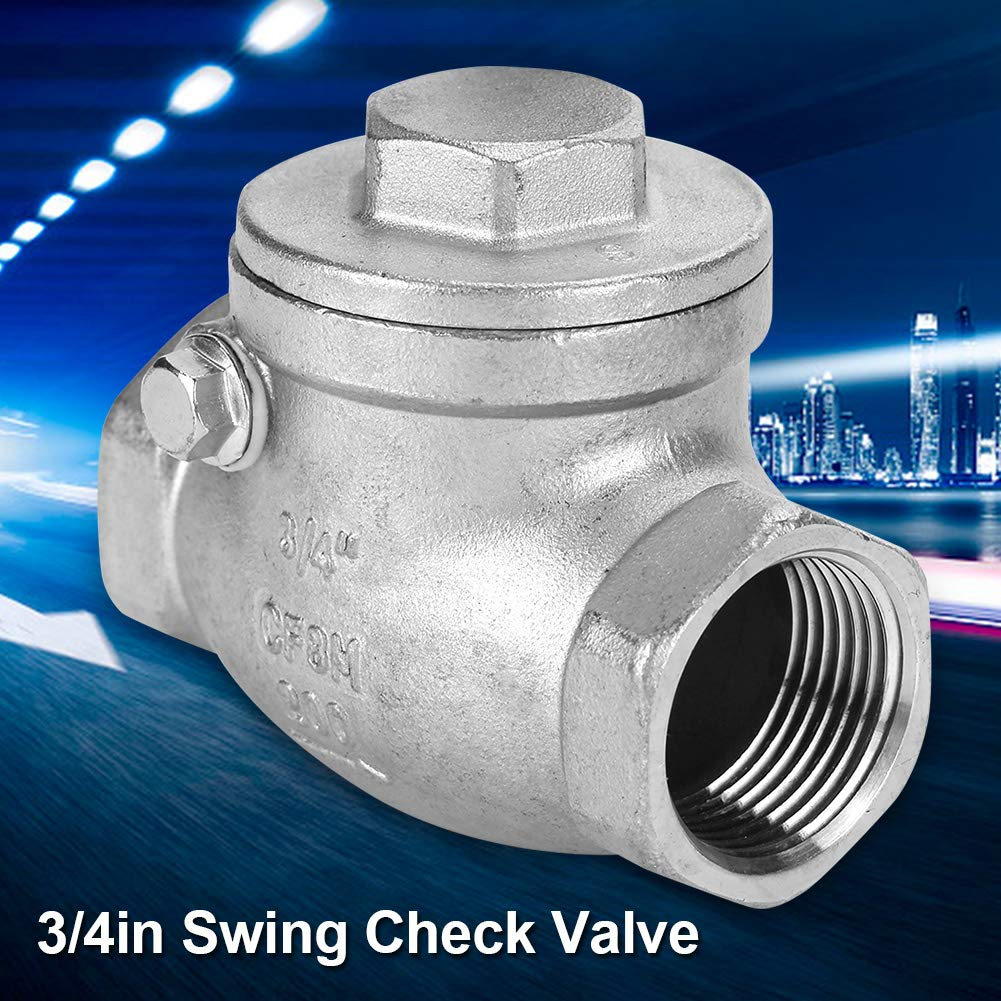 DN20 3//4 Thread Stainless Steel Lead Free Check Valve Female Swing Ckeck Valve Backflow Prevention Check Valve Kit