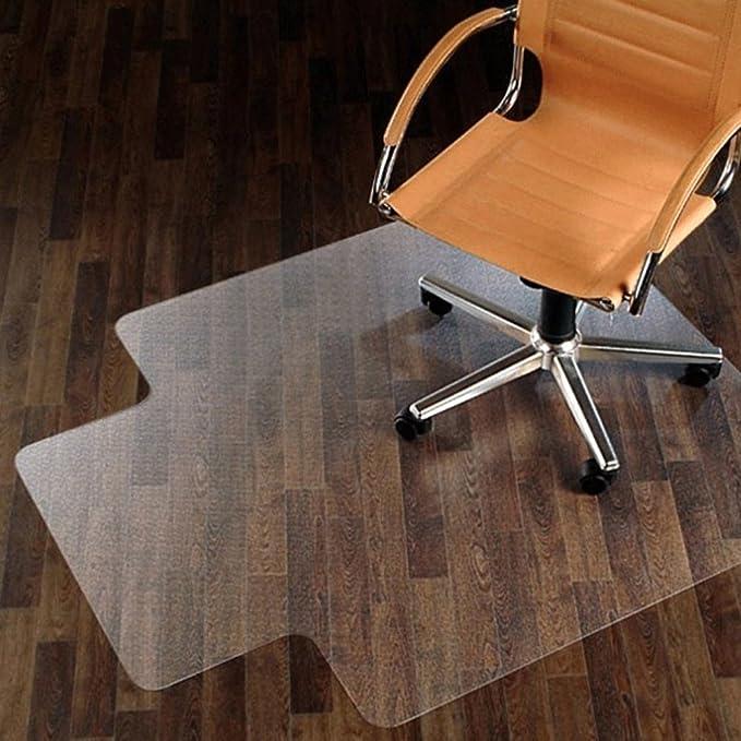 Alfombrillas para sillas con ruedas para colocar sobre suelos duros de oficina, alfombra rectangular con borde para protección del suelo y de las alfombras, ...