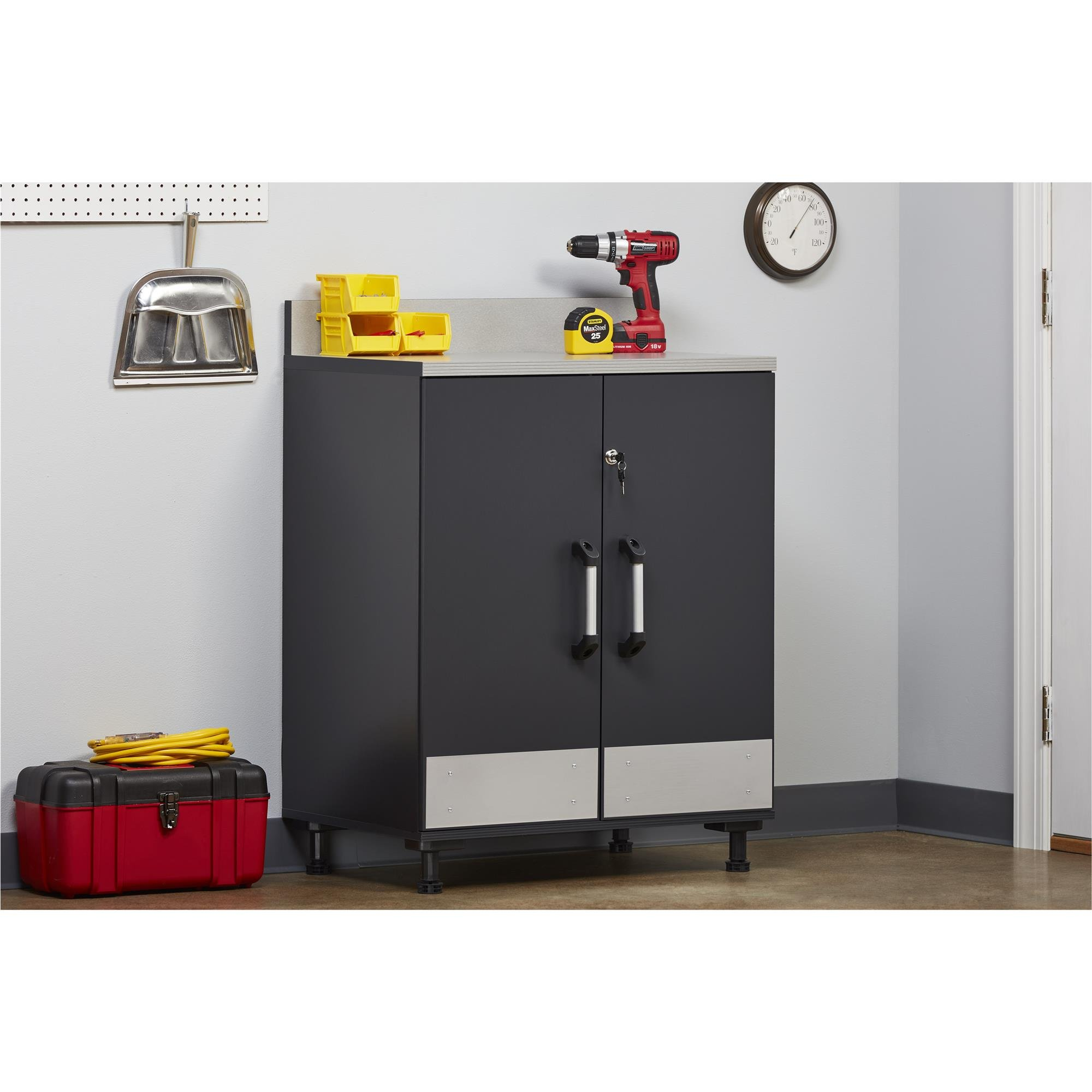 Ameriwood Home Boss -Base Cabinet 2 Door, Charcoal Gray by Ameriwood Home (Image #9)