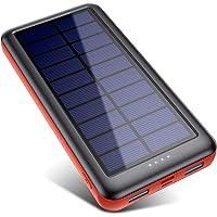 Trswyop Cargador Solar Portátil 26800mAh, Batería Externa Movil [3 Entradas y 2 Salidas] Power Bank Solar Carga Rapida…