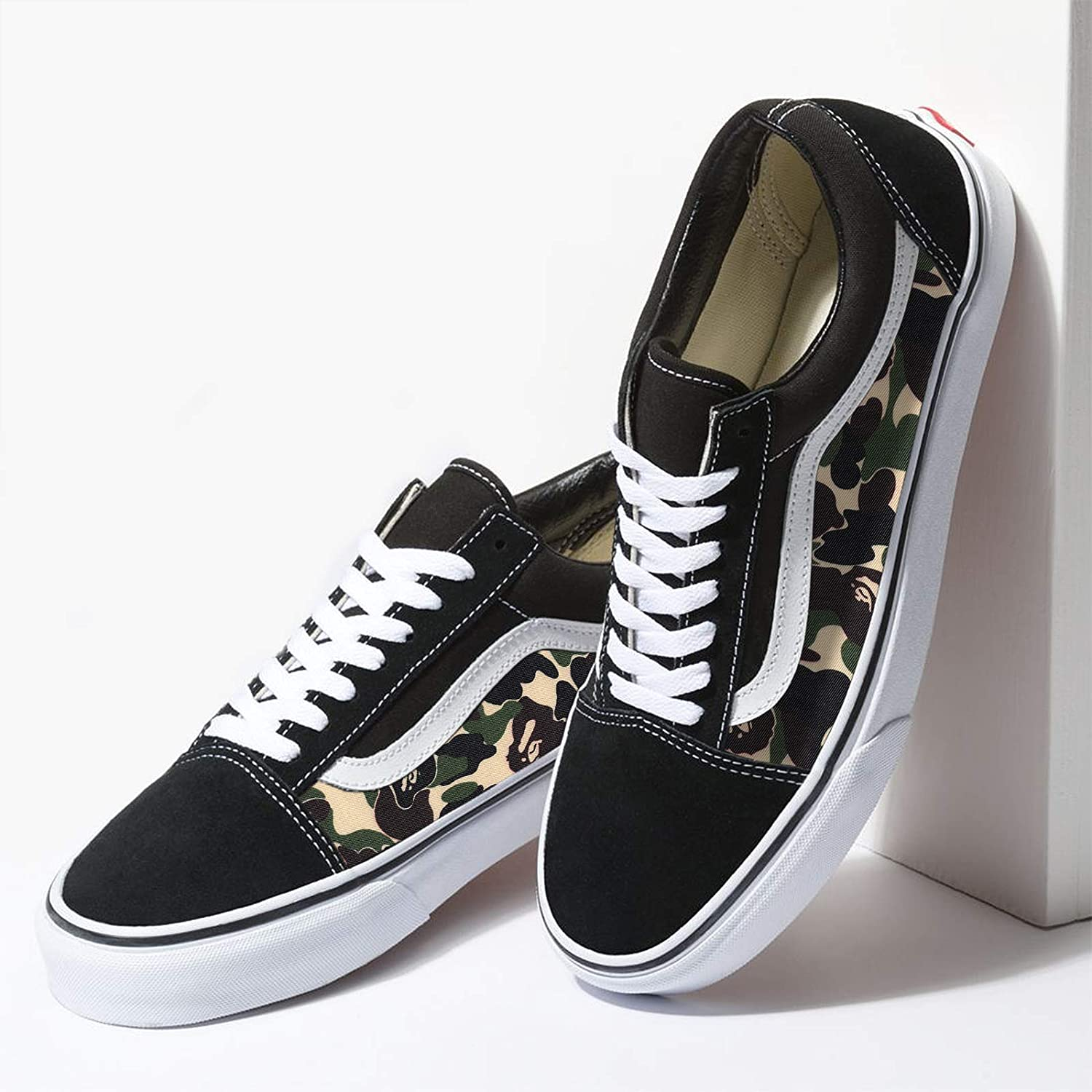 : Vans Black Old Skool x Bape Camo Pattern Custom