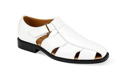 6692 Mens Fisherman Sandal White Size 10.5