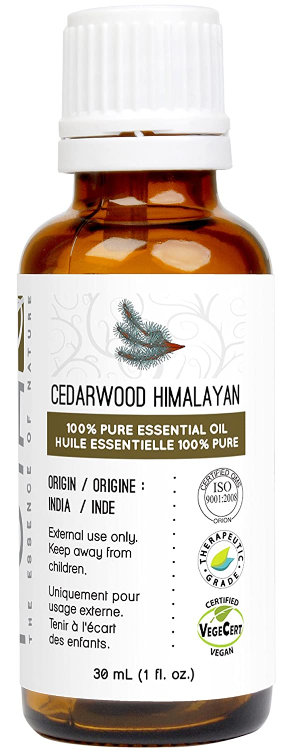 Cedarwood Essential Oil (Himalayan) 30 ml - GCMS Tested, 100% Pure, Undiluted and Therapeutic Grade Poya Marketing Ltd