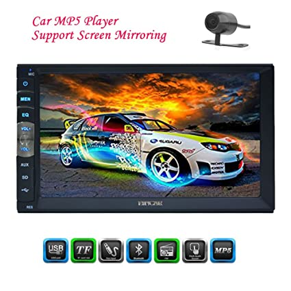 EinCar Linux Car Stereo MP5 System Auto Video Multimedia Car Deck NO dvd  Player Audio Radio Head Unit support Nirror Link/5-touch