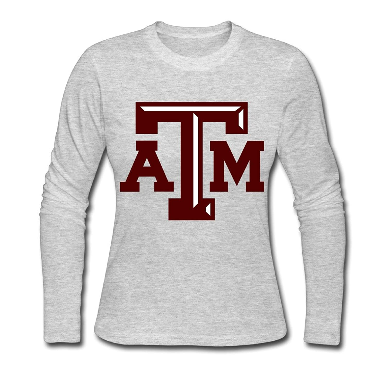 Women's Fashion Texas A&M University Logo Long-sleeve T