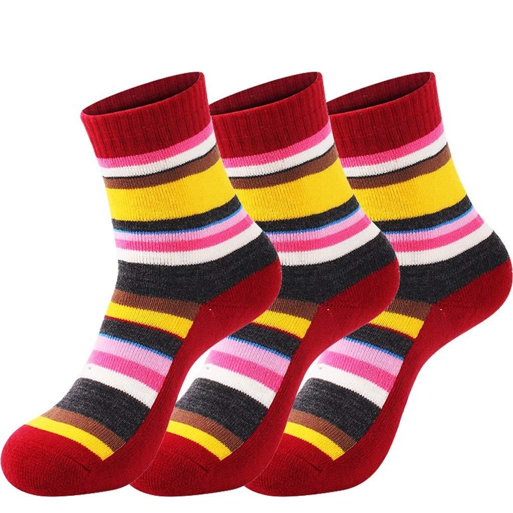 3 Paar Damen Outdoor Sports Wandern Socken, Feuchtigkeitstransport und schnell trocknende Sportsocken, Hot Snow Ski Socken (Color : A(9pairs), Größe : Ms. 35-40)