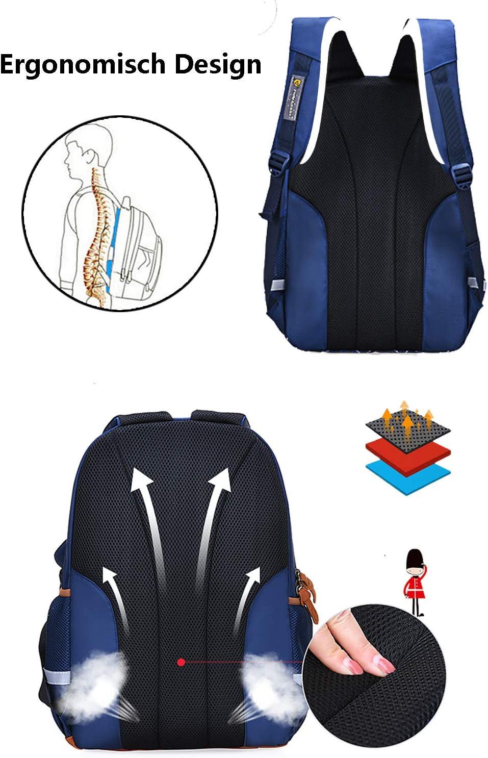 Neusky Schulrucksack Schulranzen Schultasche Sports Rucksack Freizeitrucksack Daypacks Backpack f/ür M/ädchen Jungen /& Kinder Jugendliche mit der Gro/ßen Kapazit/ät Lila-Set