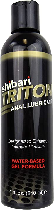 Shibari Triton Anal Lubricant, Premium Water-Based Gel Formula, Quality Anal Lube, 8 Fluid Ounces