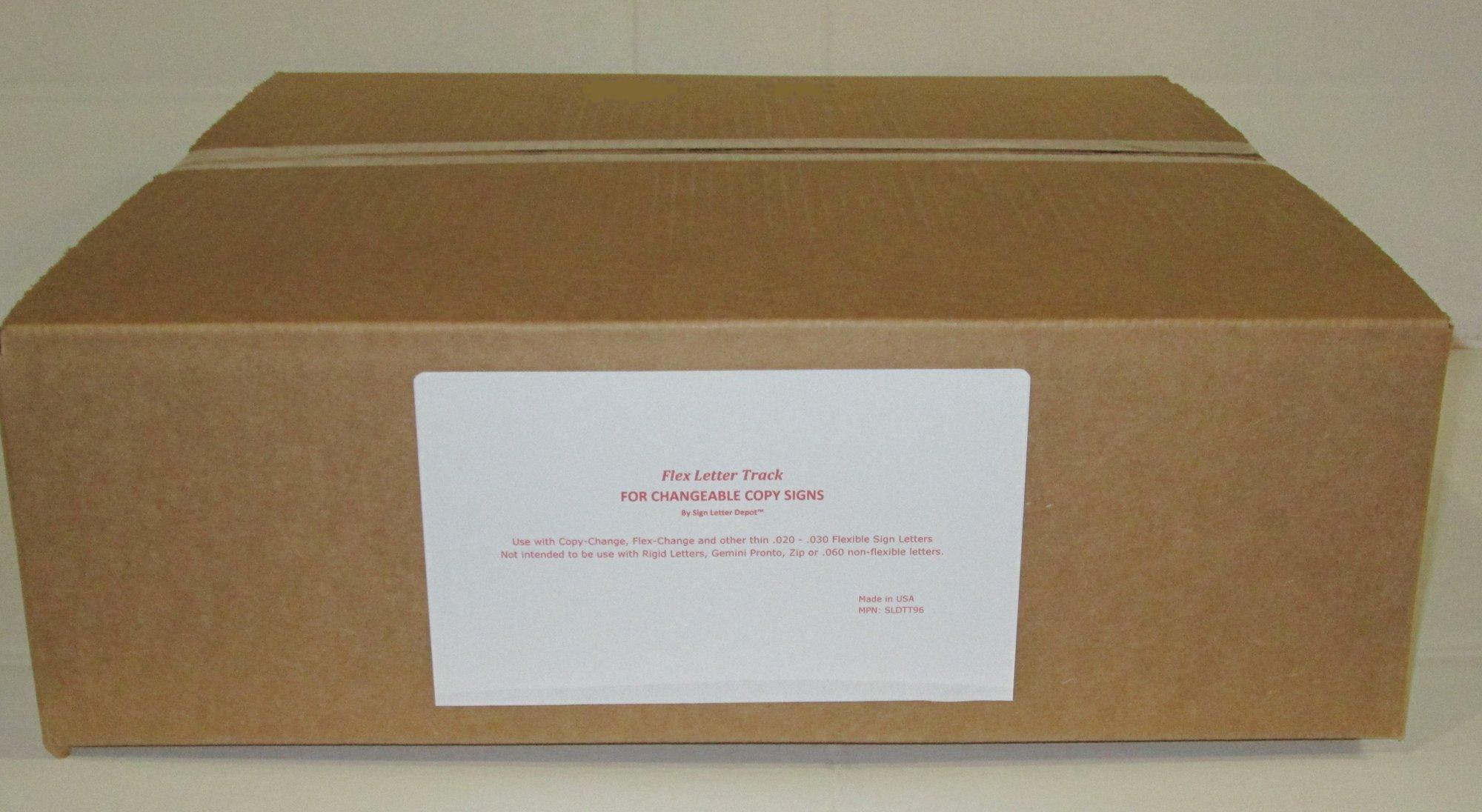Sign Letter Track for Flexible Plastic Sign Letters - Set of 10 by Sign Letter Depot