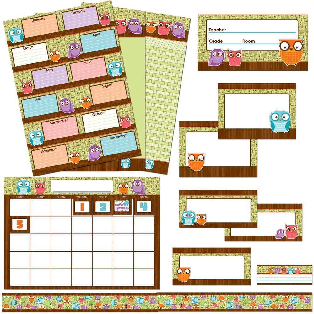 Carson Dellosa Owls Classroom Collection Bulletin Board Set (110167)