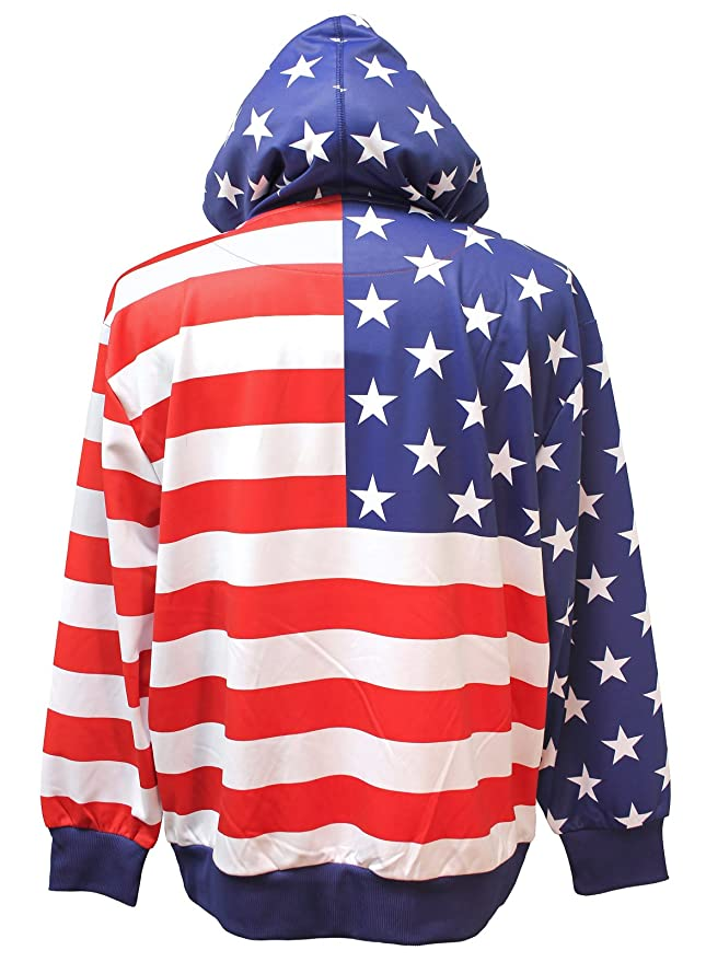 a112ec0956f4 Calhoun Sportswear Unisex USA Flag Pullover Hoodie (Small) at Amazon Men s  Clothing store