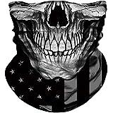 TERNNK Skull Face Mask Half Sun Dust Wind Protection, 3D Tube Mask Seamless Durable Face Mask Bandana Skeleton Face Mask…