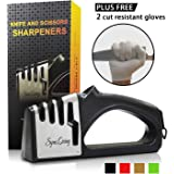 Amazon.com: Afilador de cuchillos, profesional 4 en 1 ...