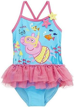 Peppa Pig bajo el mar tutú Bañador para/Bañador para Disfraz 2 ...