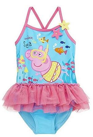 Peppa Pig Under The Sea Tutu Swim Suitswim Costume 3 4yrs New