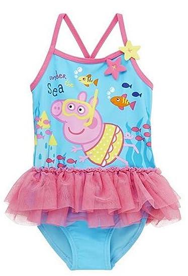 a86b235c90 Peppa Pig 'Under The SEA' Tutu Swim Suit/Swim Costume 3-4YRS - New:  Amazon.co.uk: Clothing