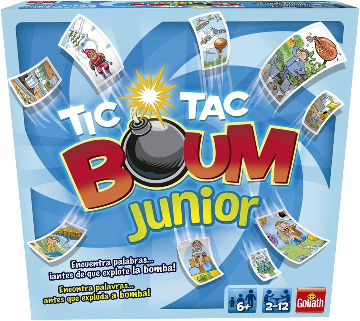 Goliath - Tic Tac Boum Junior, Juego de Cartas , Encuentra la Palabra (70508) , color/modelo surtido