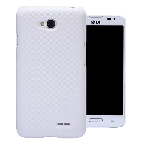 Nillkin Frosted Shield Hard Bumper Back Case Cover for nbsp;LG L70 D325 Dual Sim with Free Nillkin Screen Guard   White