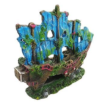 Decoración del acuario de SpongeBob, pecera decorativo de 8 piezas: Amazon.es: Productos para mascotas