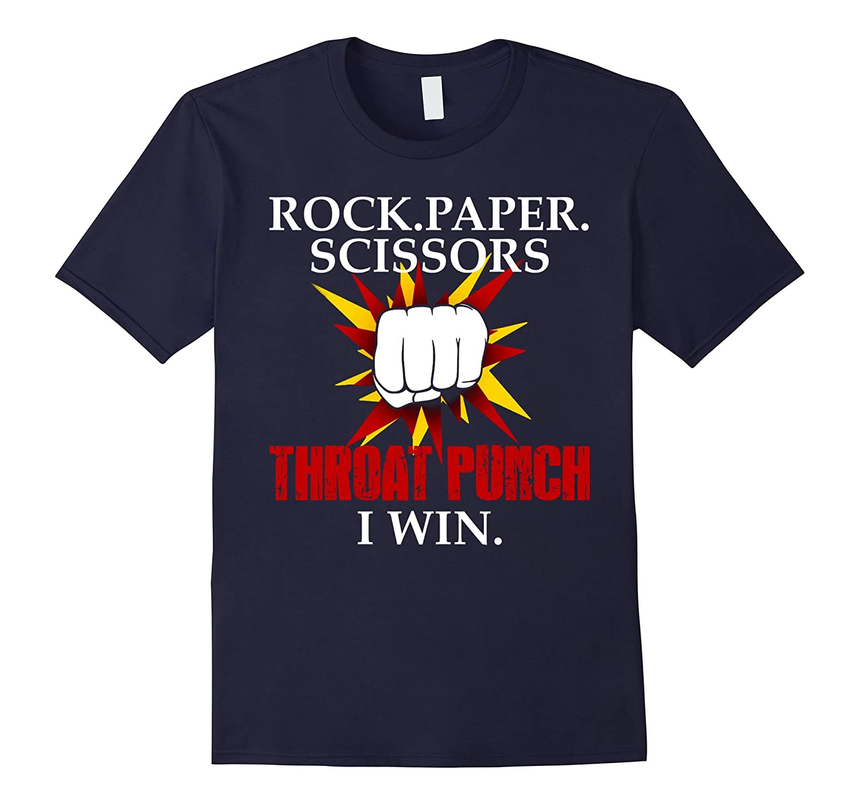 Rock Paper Scissors Throat Punch