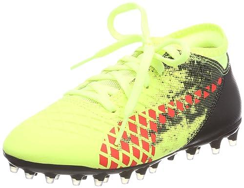 buy popular 53987 86e19 Puma Future 18.4 MG Jr, Chaussures de Football Mixte Enfant, Jaune (Fizzy  Yellow