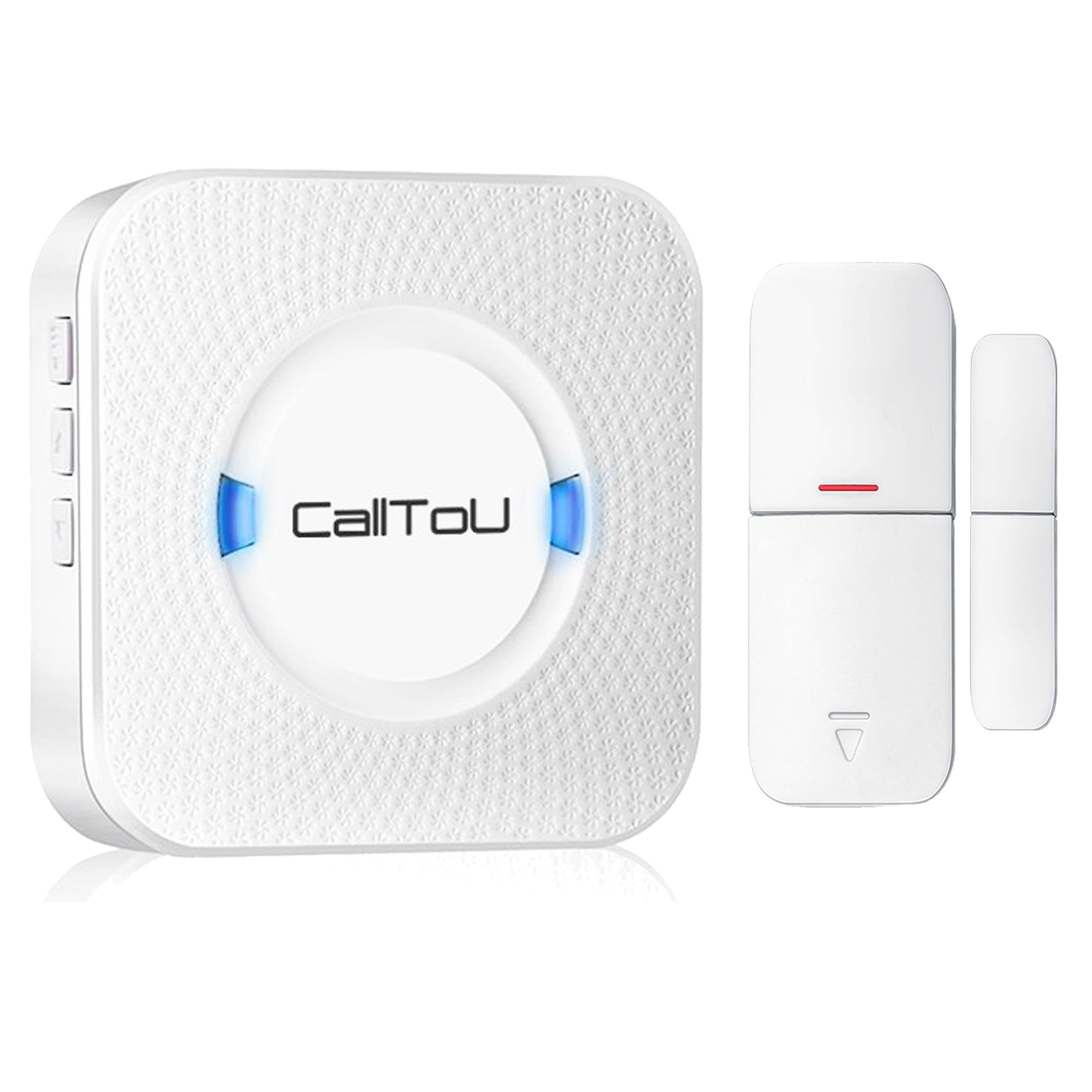 CallToU Wireless Door Open Chime Sensor Entrance Chime Entry Alert Alarm For Home Retail Store Business shop Apartment Office 1 Magnet Door/Window sensor 1 Receiver