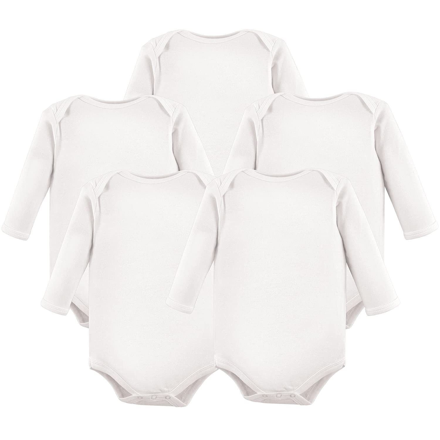 Hudson Baby Girls' Long Sleeve Bodysuits, 10155020