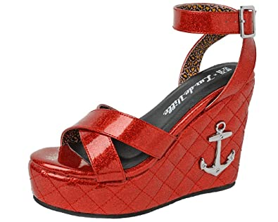 f6949b6a71 Amazon.com | T.U.K. Shoes A9067L Womens Sandals, Red Anchor Sandal ...