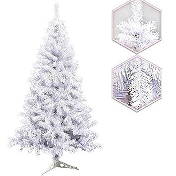 Fertiger Künstlicher Weihnachtsbaum.Hengda 120cm Ca 200 Künstlicher Weihnachtsbaum Tannenbaum Dekobaum Weiß Mit Kunststoff Ständer