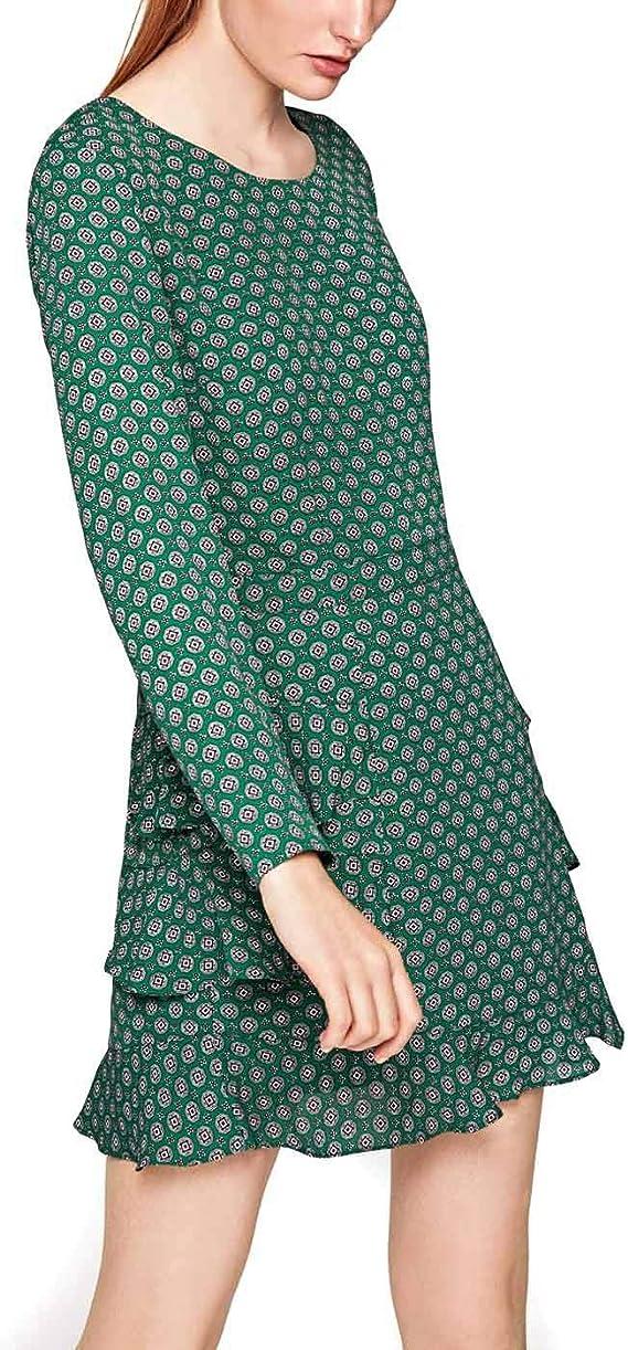 TALLA M. Pepe Jeans Vestido Farrala Verde M