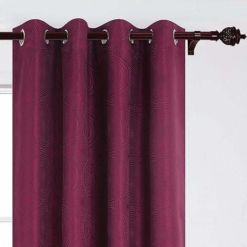 Deconovo Luxury Darkening Grommet Jacquard Window Curtain Panels - a good cheap window curtain panel