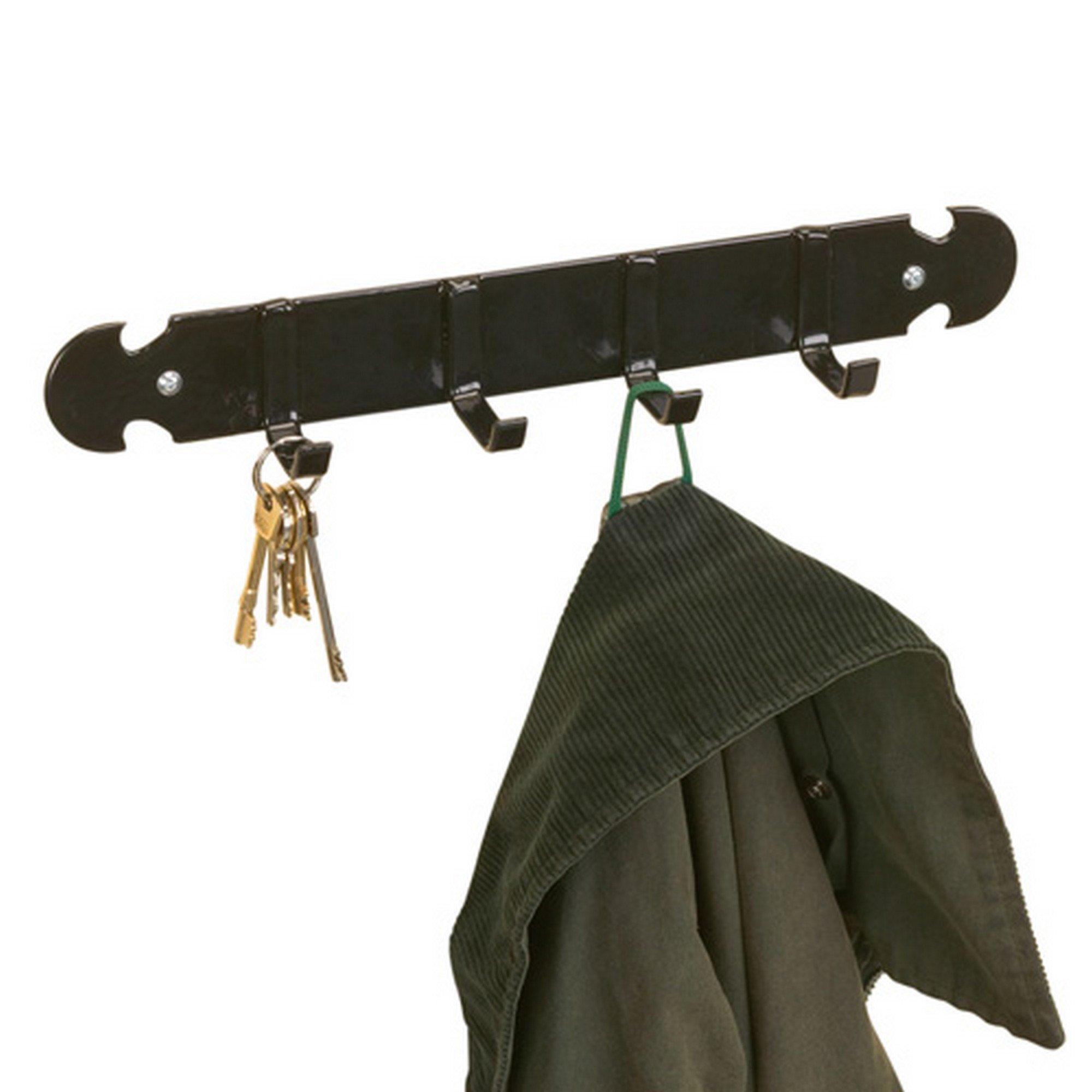 Stubbs Coat & Key Rack (2.4 x 15.4 x 2.4) (Black)